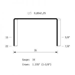 graffa per imballaggio mod. 35 omer